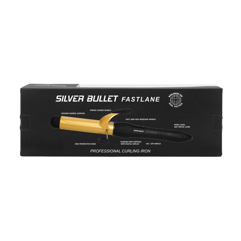 Silver Bullet Fastlane Large Ceramic Curling Iron | Gold | 32mm