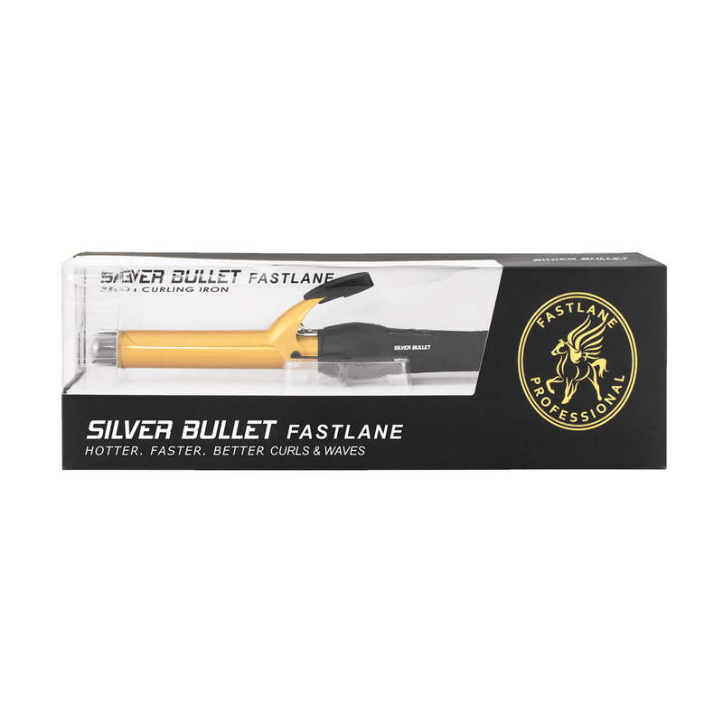 Silver Bullet Fastlane Large Ceramic Curling Iron | Gold | 25mm