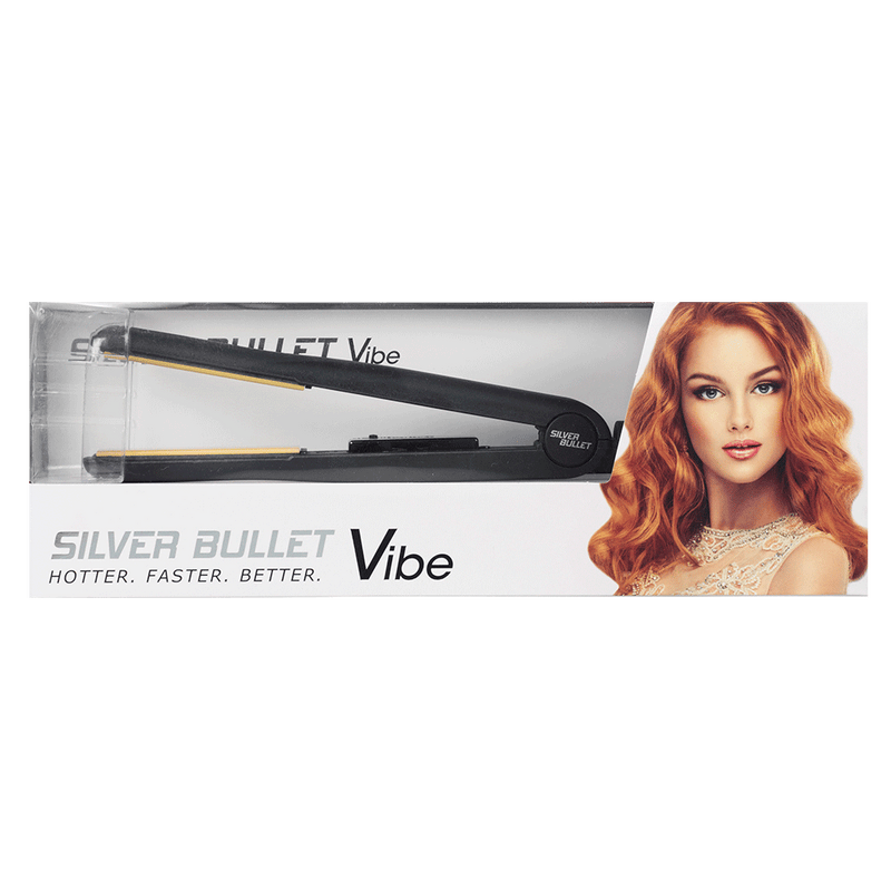 Silver Bullet Vibe Hair Straightener | Black