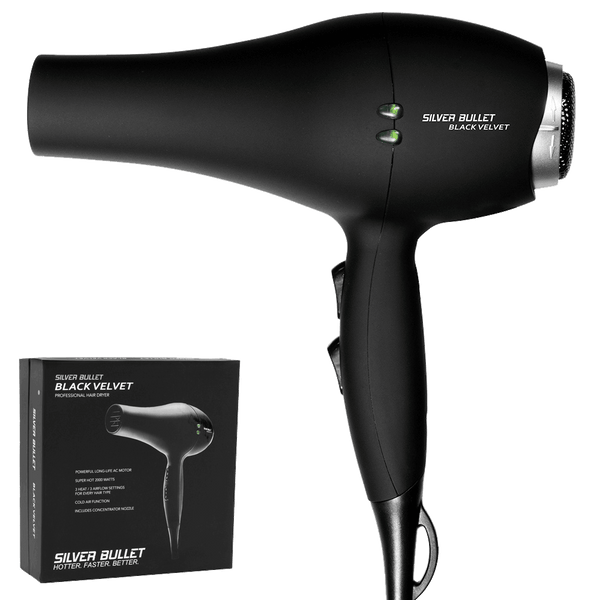 Silver Bullet Black Velvet Professional Hair Dryer | Black