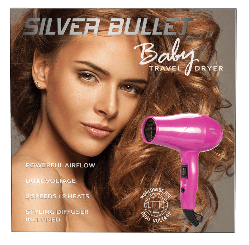 Silver Bullet Baby Travel Hair Dryer | Pink