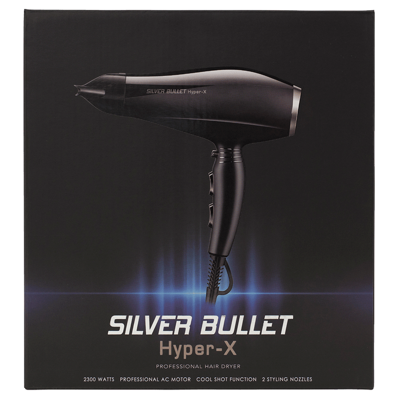 Silver Bullet Hyper X Professional Hair Dryer | Black