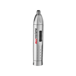 Babyliss PRO Nose and Ear Hair Trimmer | Silver