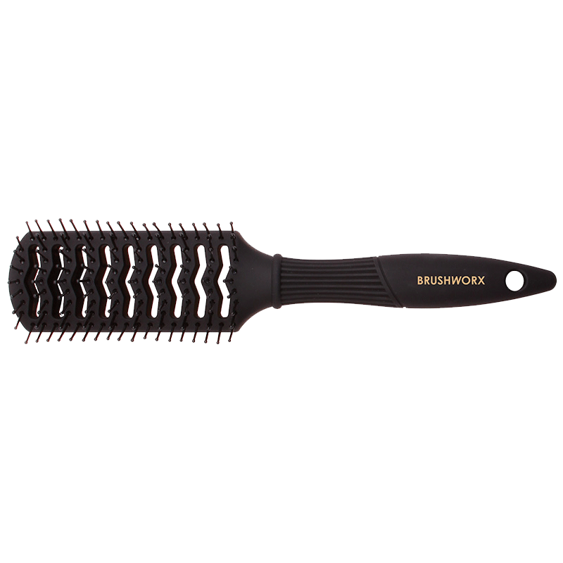 Brushworx Gold Series Tunnel Vent Hair Brush | Black