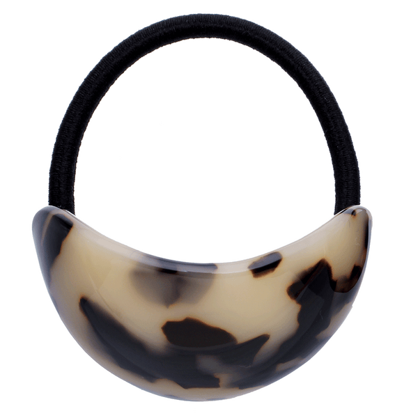 Grace Dome Ponytailer Elastic | Light Tortoise Shell