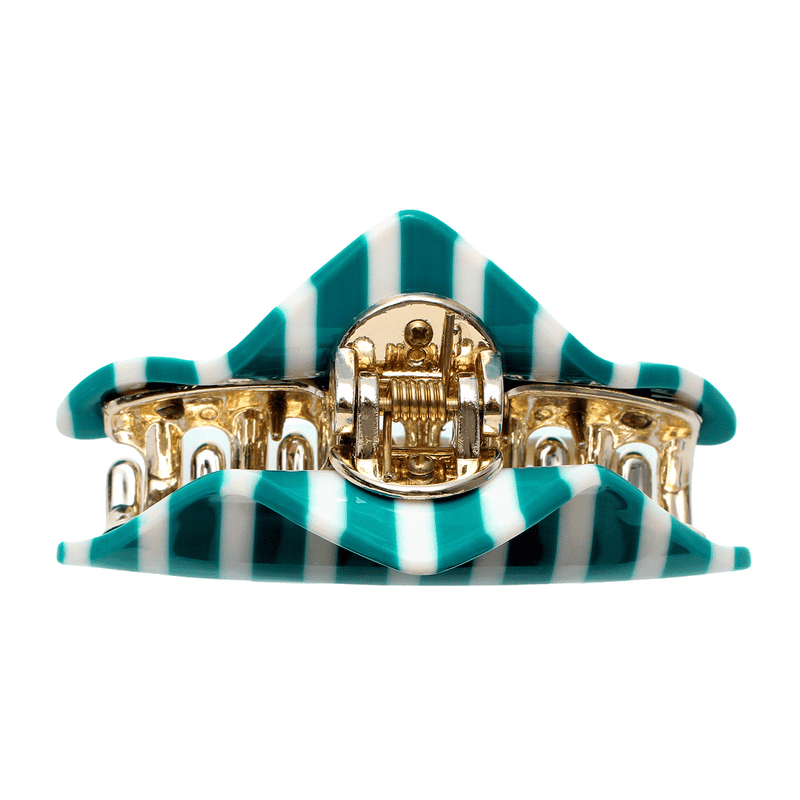Lily Hair Claw | Green & White