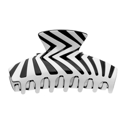 Zebra Hair Claw Large | Black & White