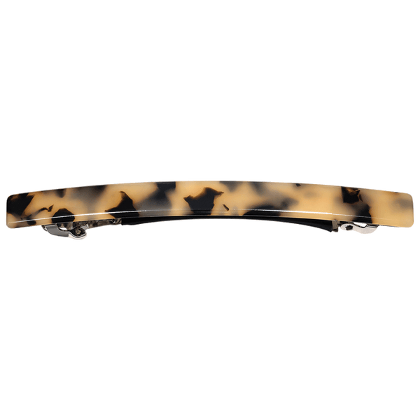 Sienna Thin Hair Clip | Light Tortoise Shell