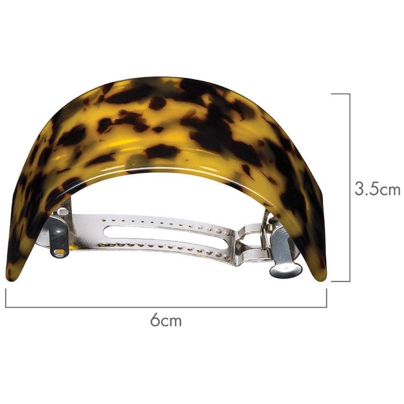 Caitlin Pony Tail Hair Clip | Dark Tortoise Shell