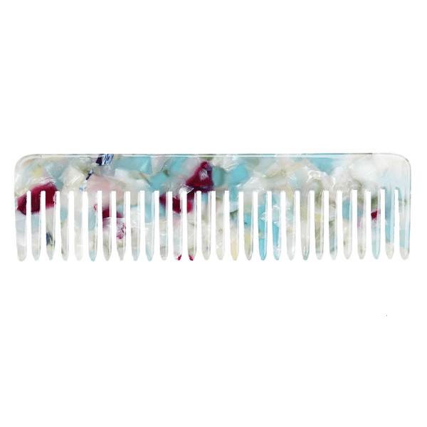Peta Pocket Comb | Aqua Multi