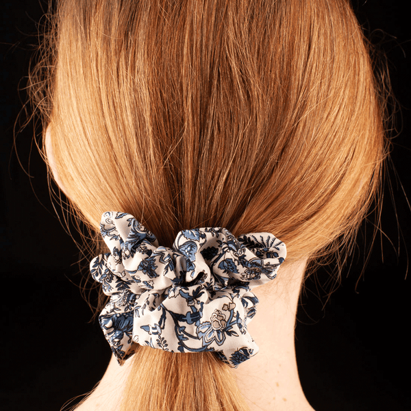 Scrunchies  | Made In Australia | Blue Floral