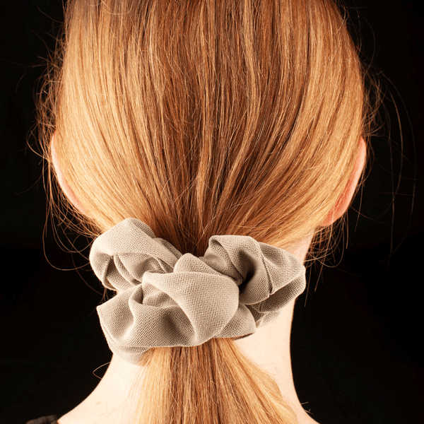Scrunchies  | Made In Australia | Taupe Chevron