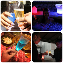 Load image into Gallery viewer, Liquid Sensor LED Champagne Glass