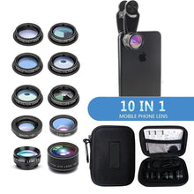 Load image into Gallery viewer, 10 in 1 Phone Camera Lens Kit