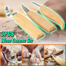 Load image into Gallery viewer, 3pcs Wood Carving Set