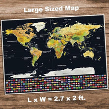 Load image into Gallery viewer, Travel Scratch Off Map