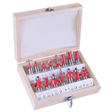 Load image into Gallery viewer, 15pcs 1/4 Inch Router Bit Set