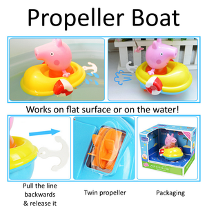 Baby Bath Pig Boat Toy