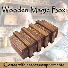 Load image into Gallery viewer, Wooden Magic Box