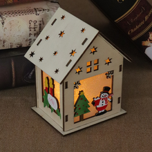 Load image into Gallery viewer, Glowing Christmas Wood Cabin