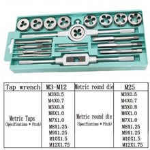 Load image into Gallery viewer, 20pcs Tap & Die Bit Set