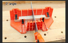 Load image into Gallery viewer, Clamping Mitre Box with Adjustable Saw