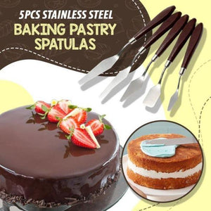 5 PCS Stainless Steel Baking Pastry Spatulas