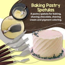 Load image into Gallery viewer, 5 PCS Stainless Steel Baking Pastry Spatulas