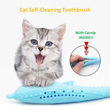 Load image into Gallery viewer, Cat Self-Cleaning Toothbrush - With Catnip INSIDE