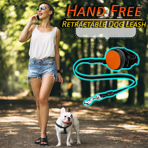Hand Free Retractable Dog Leash - 98 Feet