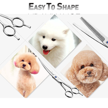 Load image into Gallery viewer, Curved Hair Grooming Scissors