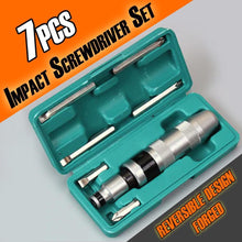 Load image into Gallery viewer, 7pcs Impact Screwdriver Set