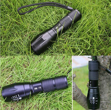 Load image into Gallery viewer, Waterproof Zoom-able LED Flashlight XML-T6 (5 Modes)