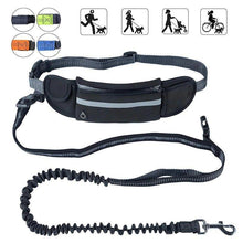 Load image into Gallery viewer, Hands Free Dog Leash with Waist Pocket