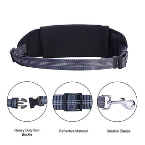 Hands Free Dog Leash with Waist Pocket