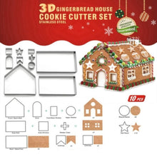 Load image into Gallery viewer, Gingerbread House Cookie Cutters
