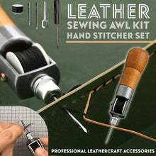 Load image into Gallery viewer, Leather Sewing Awl Kit Hand Stitcher Set