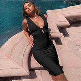 Hollow-Out Bandage Dress