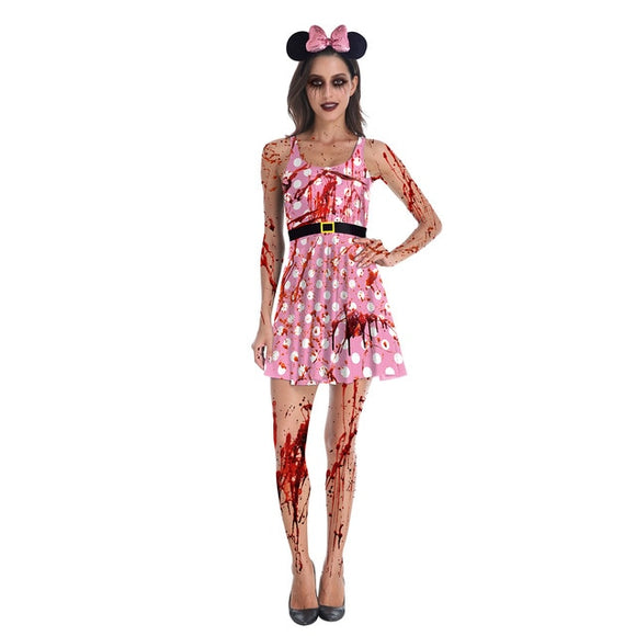 Perfect Halloween Party Pleated Dress