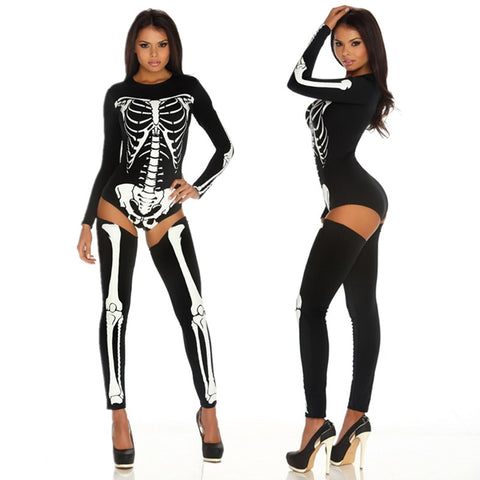 Sexy Skeleton Bodysuit Set