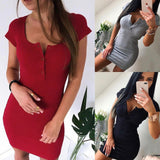 Scoop Neck Mini Dress