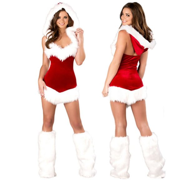 Halter Back Hooded Santa