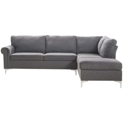 Melvyn Gray Fabric Sectional Sofa - KTL Furniture