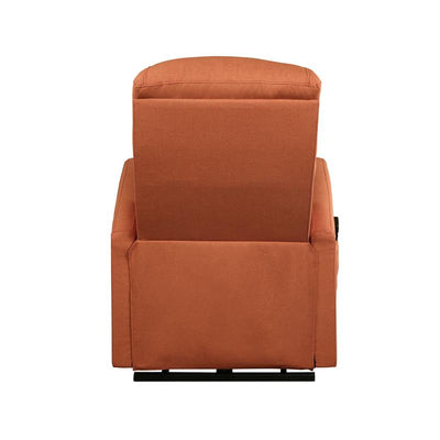 Kasia Orange Linen Recliner w/ Power Lift - KTL Furniture