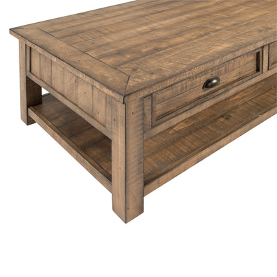 Monterey 2 Drawer Coffee Table - KTL Furniture