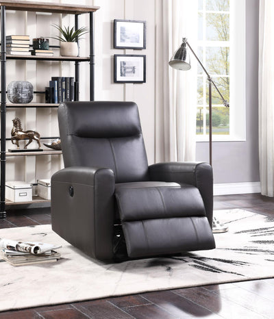 Blane Leather Match Power Motion Recliner - KTL Furniture