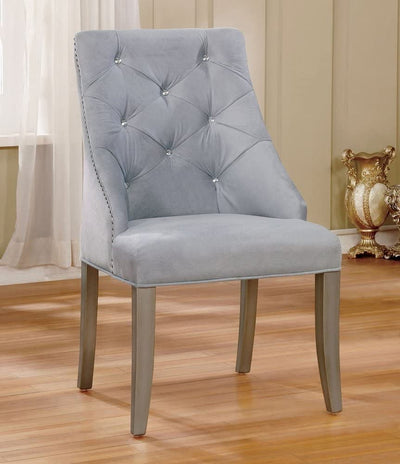 Diocles Silver/Light Gray Dining Chair (2/CTN) - KTL Furniture