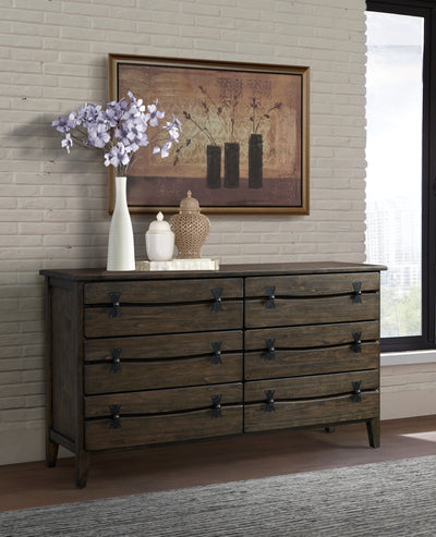 Big Sur Dresser 6 Drawer Sable Walnut Dresser - KTL Furniture
