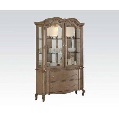 Antique Taupe Hutch & Buffet - KTL Furniture