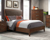La Jolla Sleigh Chaise Style Coffee Walnut Bed - KTL Furniture